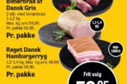 Dansk Gris: Mørbrad, hamburgerryg og røget bacon