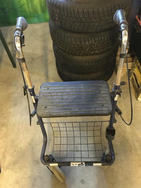 Rollator med bremse