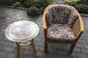 Stol & bord i Bambus
