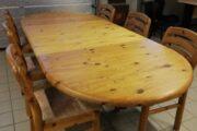 Spisebord og stole