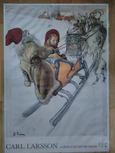 Plakat, Akvarel Carl Larsson