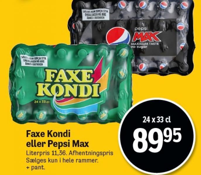Faxe Kondi eller Pepsi Max