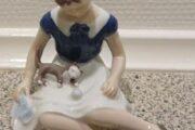 B&G figur, pige med kat