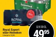 Royal Export eller Heineken