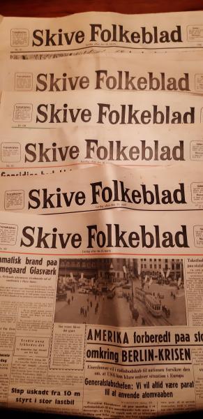 6 gamle skive folkeblade 1959