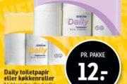 Daily toiletpapir eller køkkenruller