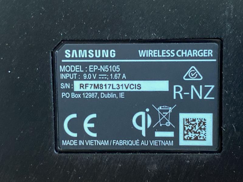 Samsung trådløs oplader, 15W Q