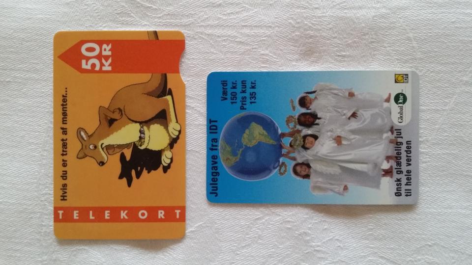 2 gamle Telefonkort