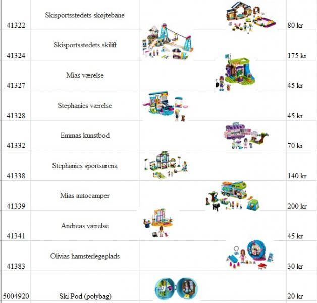 Lego Friends sælges enkeltvis