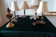 Gamle bord/petroliumslampe