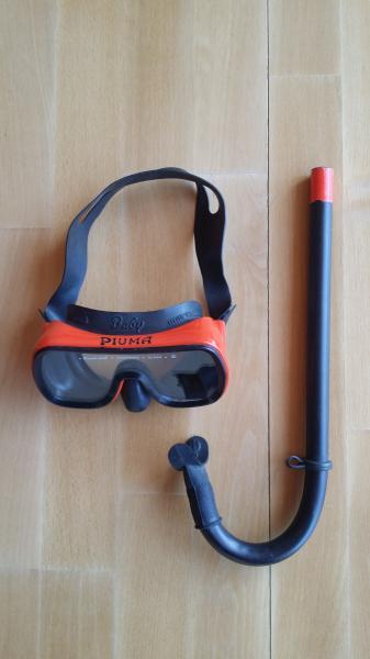 Dykkermaske og snorkel