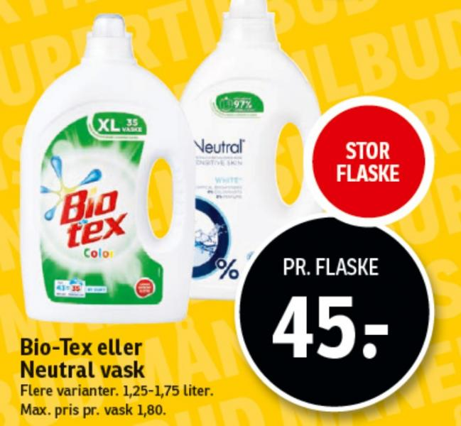 Bio-Tex eller Neutral vask