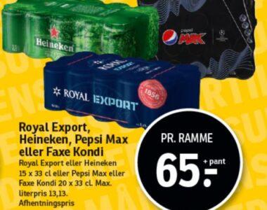 Royal Export, Heineken, Pepsl Max eller Faxe Kondi