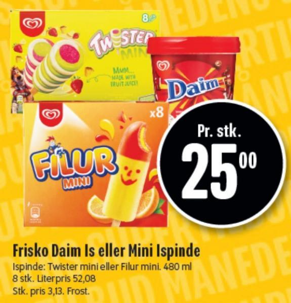 Frisko Daim Is eller Mini Ispinde