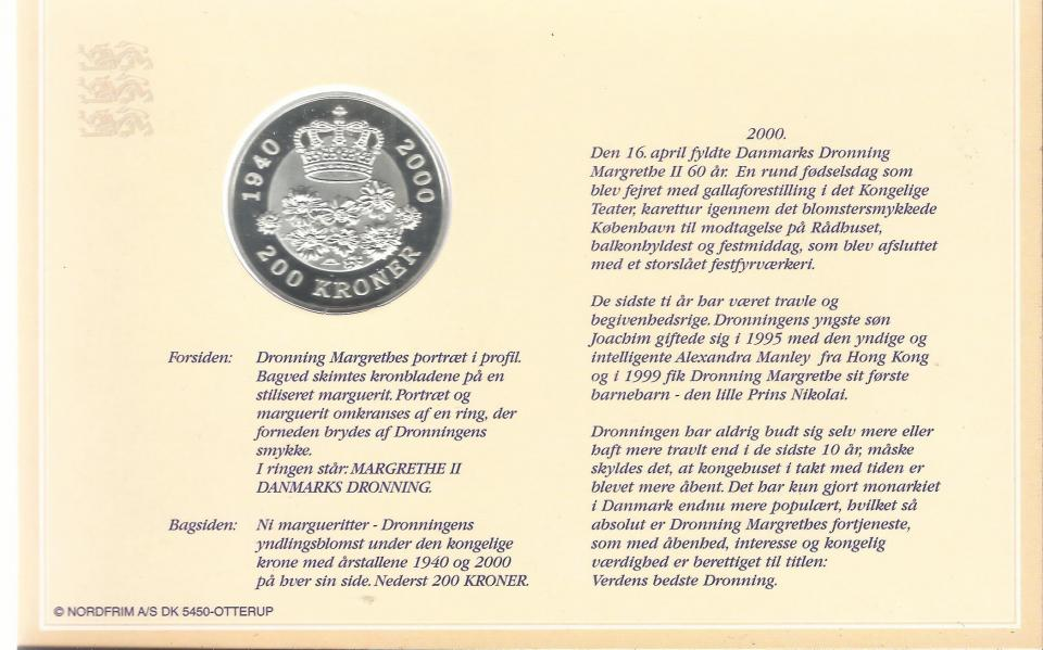 200,-kroners sølvmønter danske