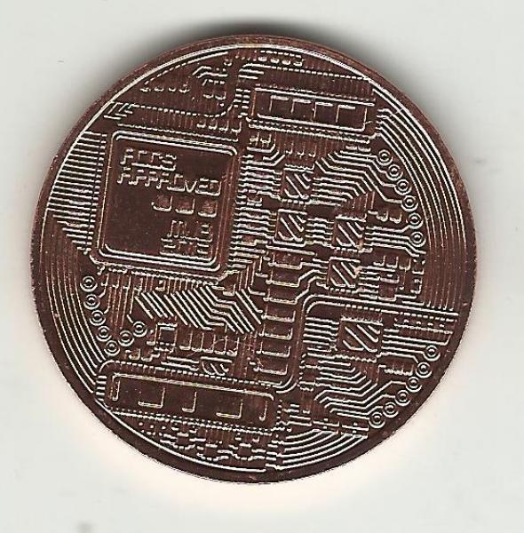 BITCOIN medaljer belagt med