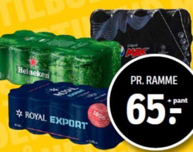 Royal, Heineken, Pepsi Max eller Faxe Kondi