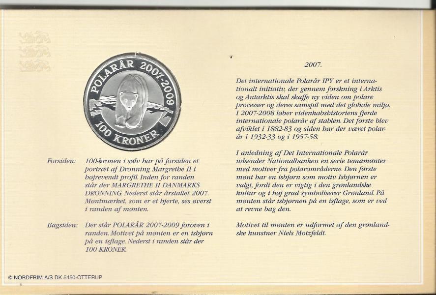 100 krs store sølvmønter fra