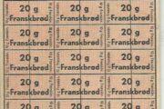 Gamle rationerings-ark m.m.