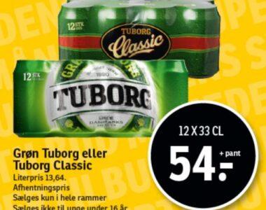 Grøn Tuborg eller Classic