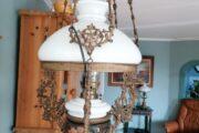Fin gammel petroleums lampe