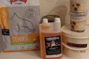 hundefoder/olie/godbider