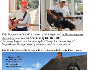 1. maj koncert i Café Borgen