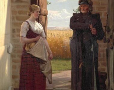 """""""Jo, han har brev"""". To malerier af Christen Dalsgaard til Museum Sallings kunstsamling"""