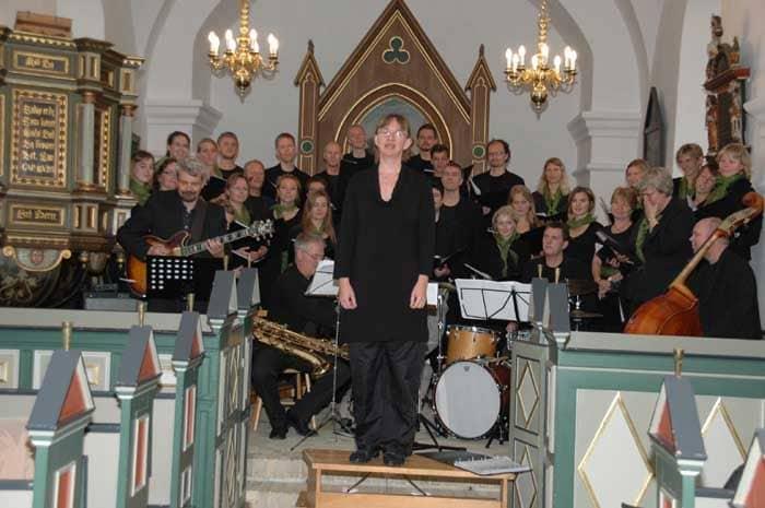KORINORD og jazzkvartetten DIBAP spillede og sang i Rødding Kirke