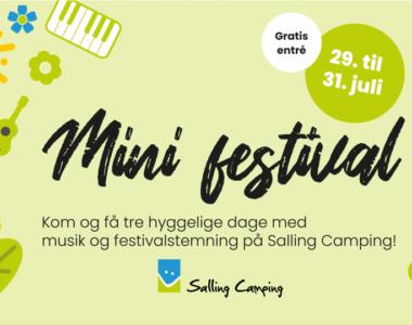 Kom til minifestival hos Salling Camping den 29. til 31. juli