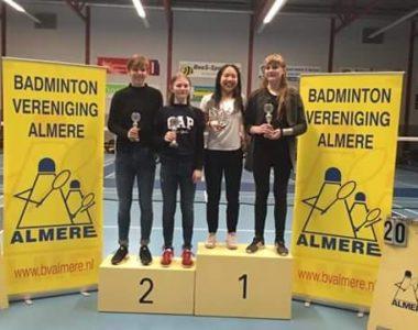 Maiken Slorup Johansen til et stort Badmintonstævne i Holland